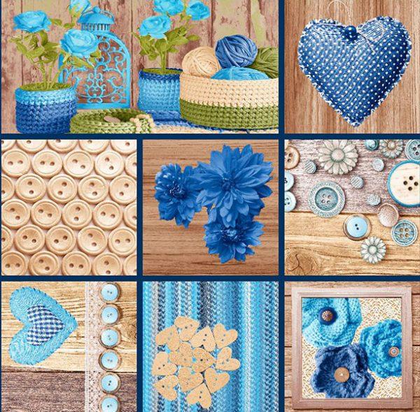 metrajes telas tricot azul