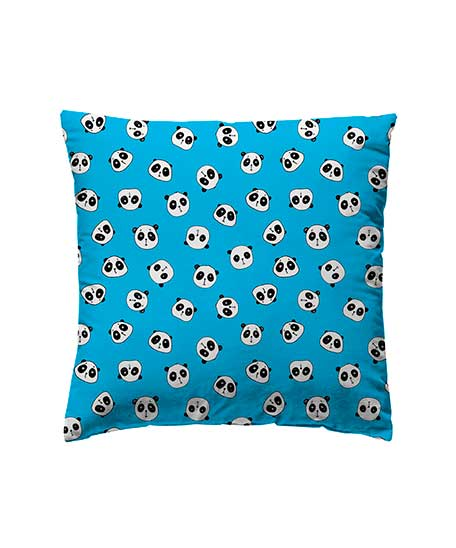 funda cojín panda azul