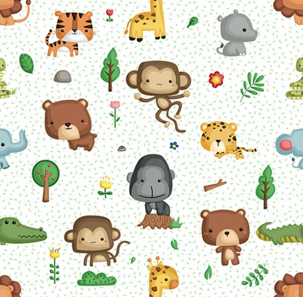 tela algodón jungla