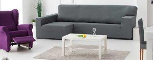 Fundas de sofá elástica para Chaise longue