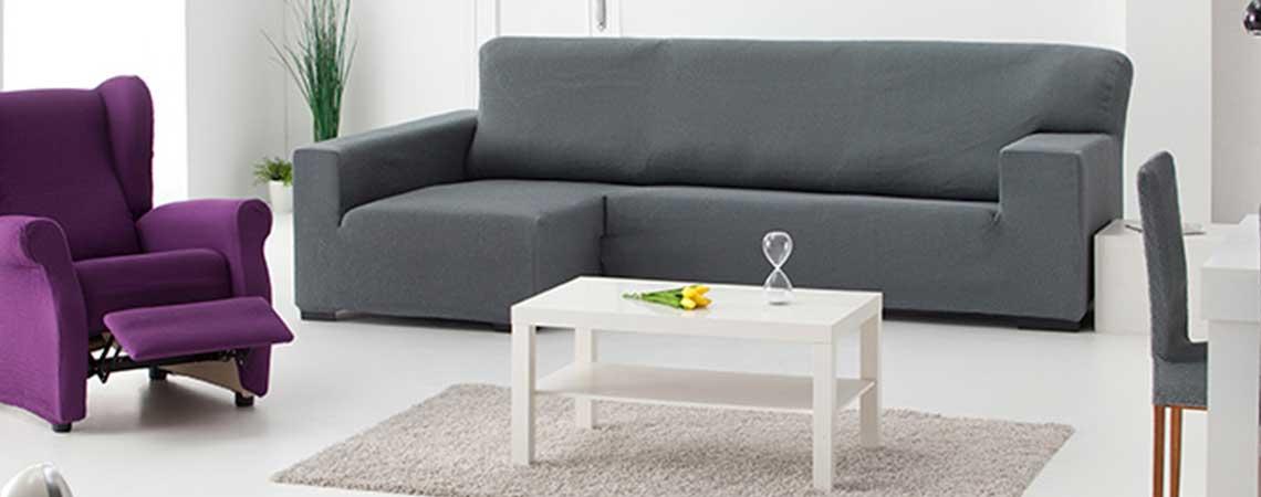 Fundas de sof chaise longue protege por completo tu sof - Fundas elasticas para sofa ...